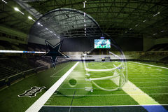 Cowboy helmet and practice facility in Ford Center Royalty Free Stock Images