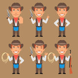 Cowboy Holds Weapons and Rope. Vector Illustration, Cowboy Holds Weapons and Rope, Format EPS 8 Royalty Free Stock Photography