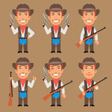 Cowboy Holds Weapons Royalty Free Stock Photo
