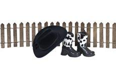 Cowboy Homestead Stock Photo