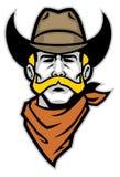 Cowboy hoofdmascotte Stock Afbeelding