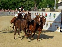 Cowboy on horse Stock Photos