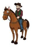 Cowboy on a horse vector illustration