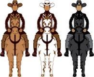 Cowboy - Horse front Stock Photos