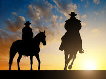 Cowboy with horse Royalty Free Stock Images