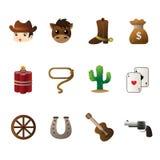 Cowboy icons Stock Photos