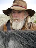 Cowboy idoso Imagem de Stock Royalty Free