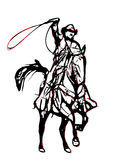 Cowboy illustration Royalty Free Stock Images