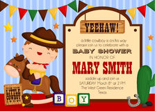 Cowboy invitation Stock Photo