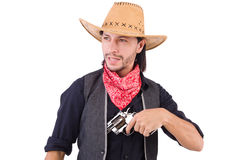 Cowboy isolated Stock Image