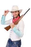 Cowboy isolated Stock Photography