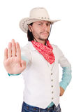 Cowboy isolated Royalty Free Stock Photo