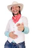 Cowboy isolated. On the white background Royalty Free Stock Image