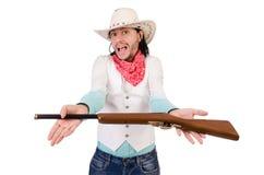 Cowboy isolato Immagine Stock