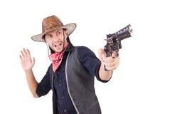 Cowboy isolato Fotografia Stock