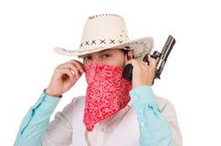 Cowboy isolato Fotografie Stock
