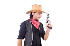 Cowboy isolato Fotografie Stock Libere da Diritti