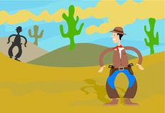 Cowboy Joe royalty illustrazione gratis