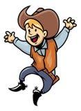 Cowboy junior. Vector of cartoon cheerful cowboy junior Royalty Free Stock Photography
