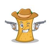 Cowboy kebab wrap character cartoon. Vector art stock illustration