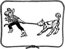 Cowboy Kid Photographie stock libre de droits