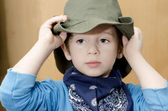 Cowboy Kid stock foto