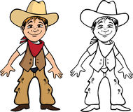Cowboy kid coloring book Royalty Free Stock Images