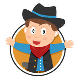Cowboy Kid Logo Royalty Free Stock Photography