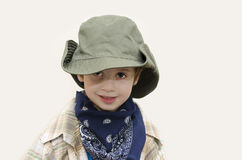 Cowboy kid. Young boy with cowboy hat Royalty Free Stock Images