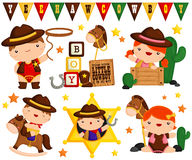Cowboy kids Royalty Free Stock Photo