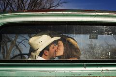 Cowboy Kiss Royalty Free Stock Photos