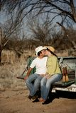 Cowboy Kiss Stock Images