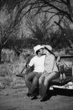 Cowboy-Kuss Lizenzfreie Stockfotos
