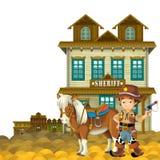 Cowboy - löst västra - illustration för barnen Royaltyfria Foton