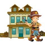 Cowboy - löst västra - illustration för barnen Royaltyfria Bilder