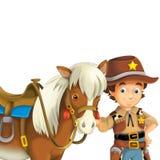 Cowboy - löst västra - illustration för barnen Fotografering för Bildbyråer