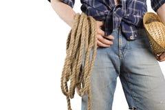 Cowboy. landbouwer Royalty-vrije Stock Afbeeldingen