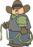 Cowboy With A Lariat Royalty Free Stock Photography
