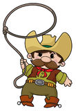Cowboy with lasso. An illustration of a cowboy with lasso Royalty Free Stock Photo