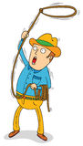 Cowboy with lasso. Illustration of a cowboy with lasso Stock Image