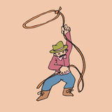 Cowboy and lasso Stock Photography