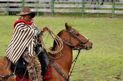 Cowboy latin de rodéo photo libre de droits