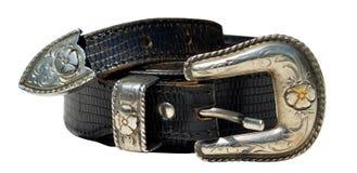 Cowboy leather belt Stock Image