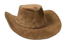 Cowboy leather hat Royalty Free Stock Photography