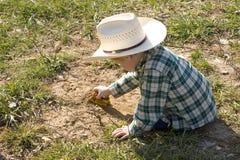 cowboy little Royaltyfri Foto