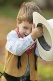 cowboy little royaltyfria bilder