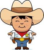 cowboy little som ler royaltyfri illustrationer