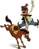 Cowboy loser. Horse throws off a cowboy, vector vector illustration