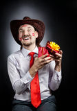 Cowboy in love Royalty Free Stock Image