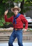 Cowboy máximo, festival dos Buskers do mundo Fotos de Stock